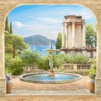Беседка у фонтана