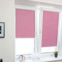 Закрытые рулонные шторы (розовые)