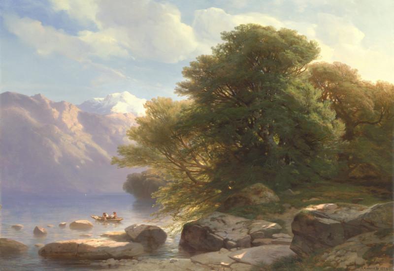 Дерево у горного озера