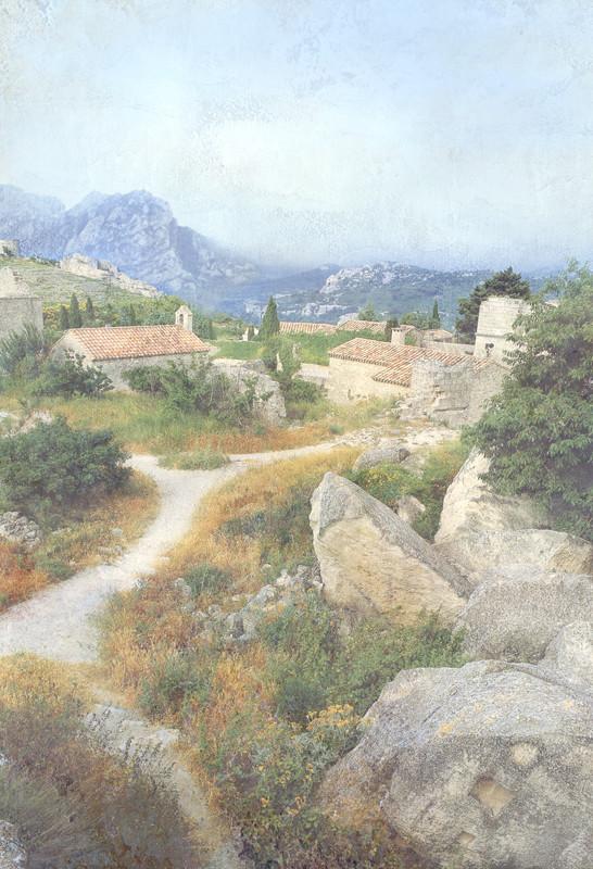 Европейская деревня в горах