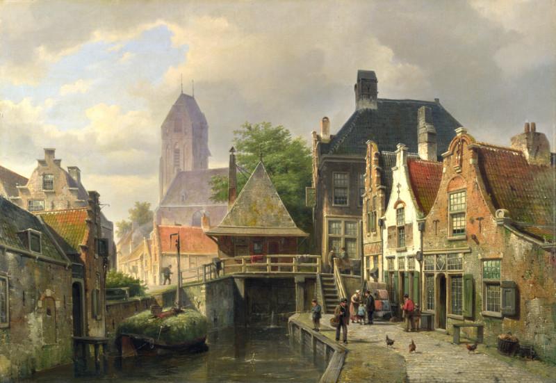 Набережная старинного городка
