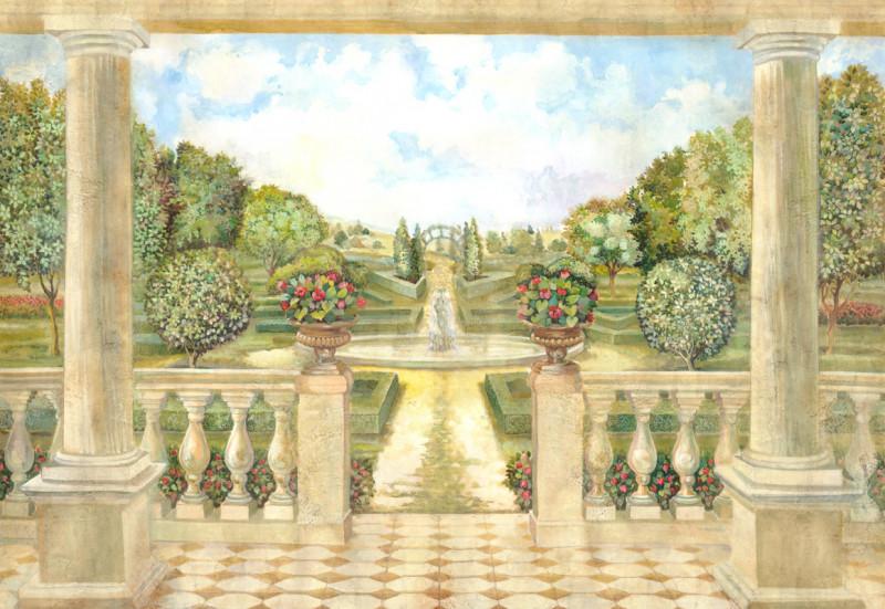 Вид с террасы на сад