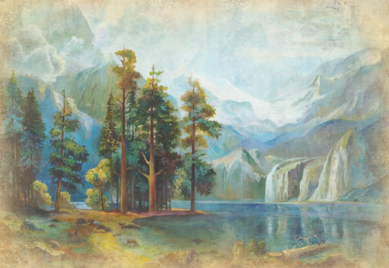 Вид на горное озеро