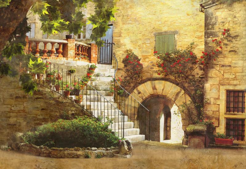 Европейский дворик с аркой