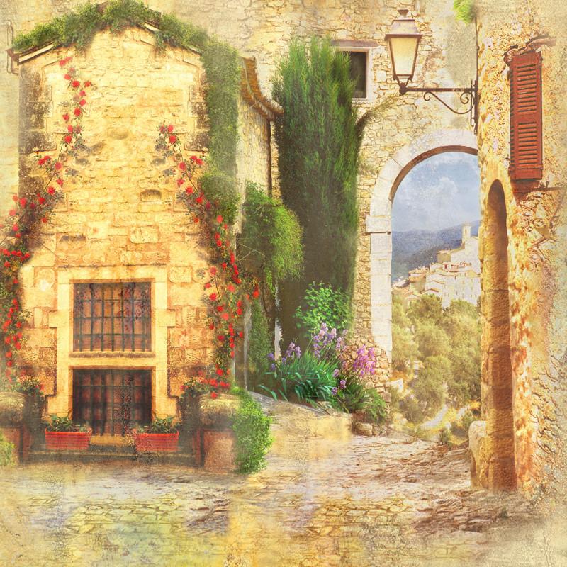 Вид из арки на замок