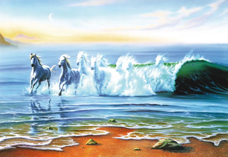Лошади волна