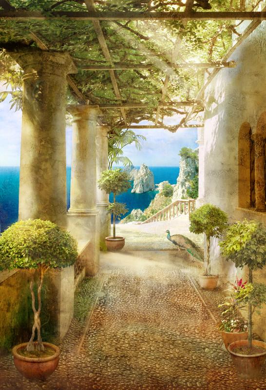 Фреска итальянский балкон