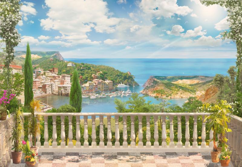 Фреска и фотообои Средиземноморский балкон