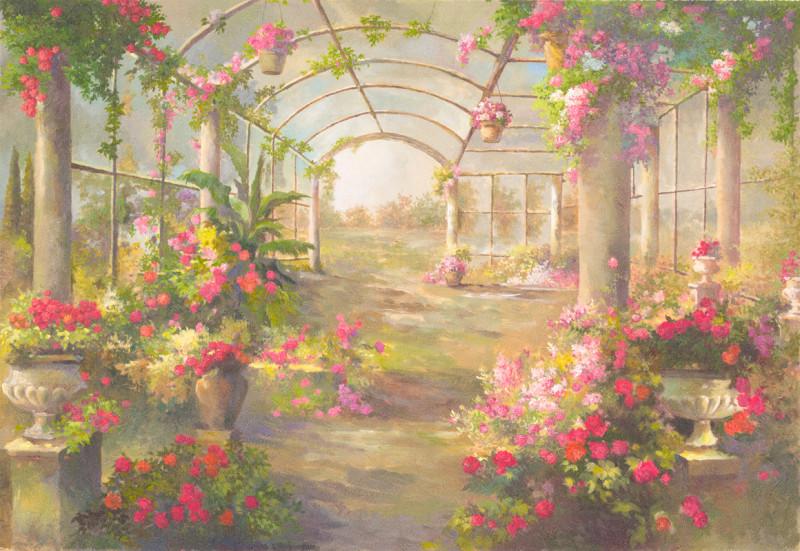 Веранда с цветами