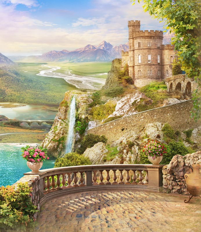 Фреска старинный замок