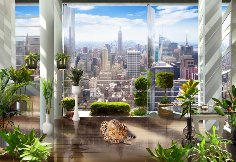 Фреска и фотообои  Панорама Нью-Йорка