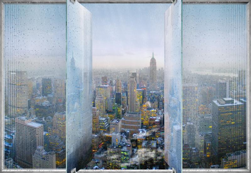 Фреска и фотообои  дождливый Нью-Йорк