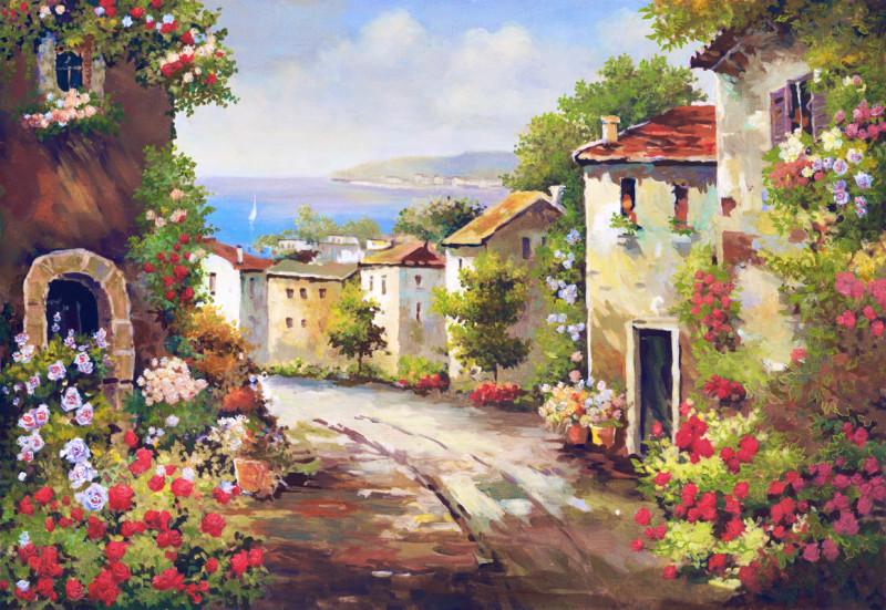 Дома в цветах