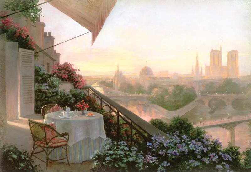 Фреска  Романтический Париж
