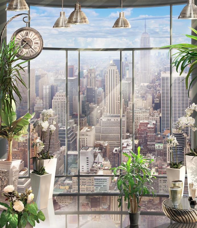 Фреска современный город