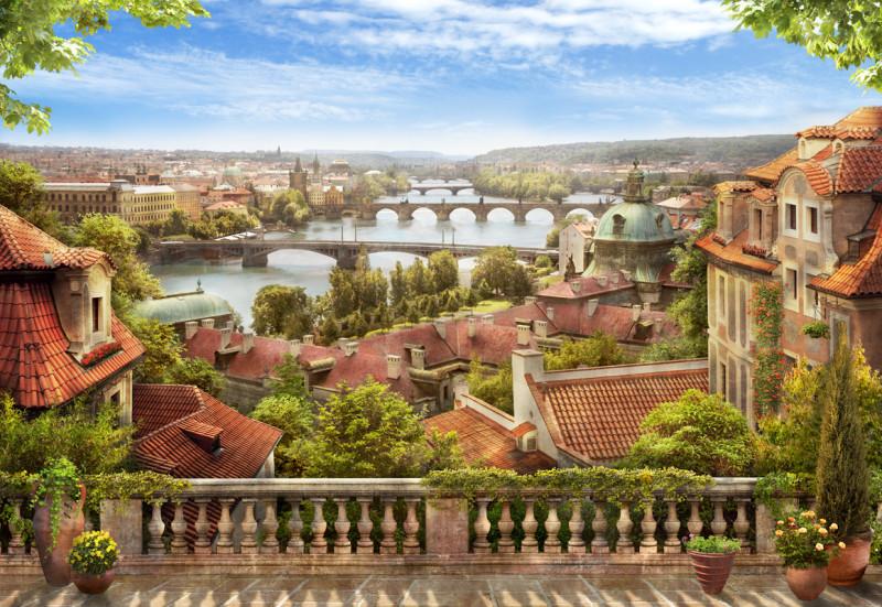 Фреска и фотообои вид на мосты