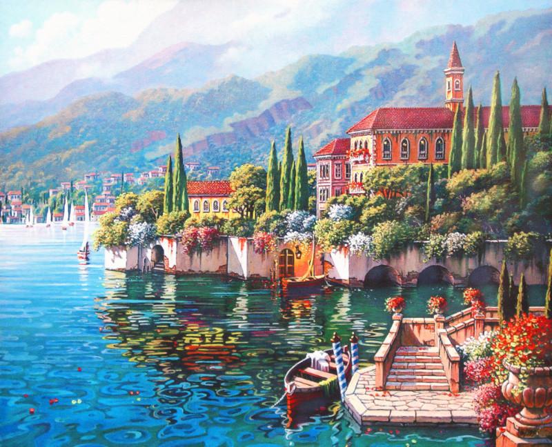 Живописное море