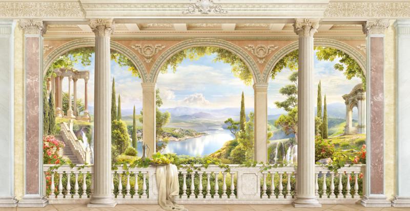 Фреска вид с балкона
