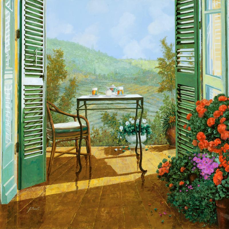 Фреска красивый балкон