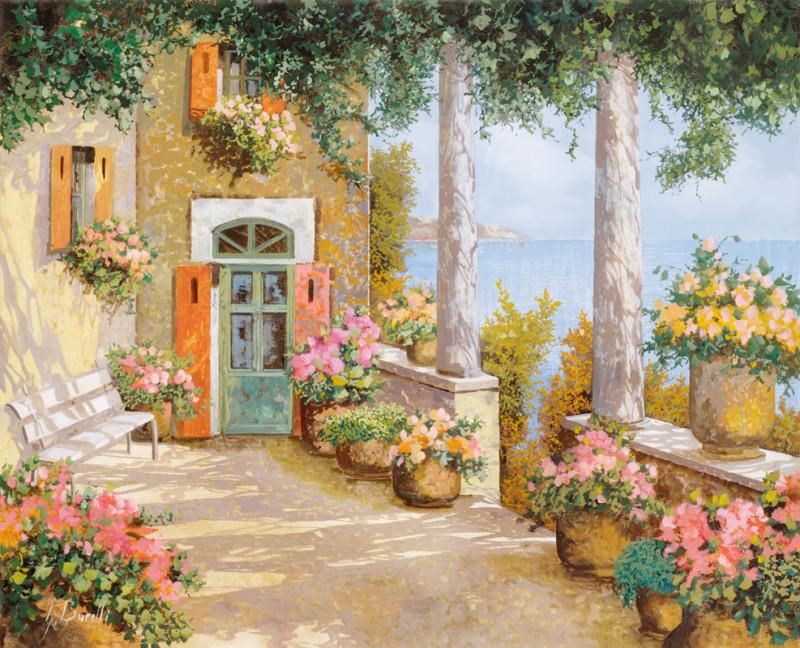 Фреска цветущий сад