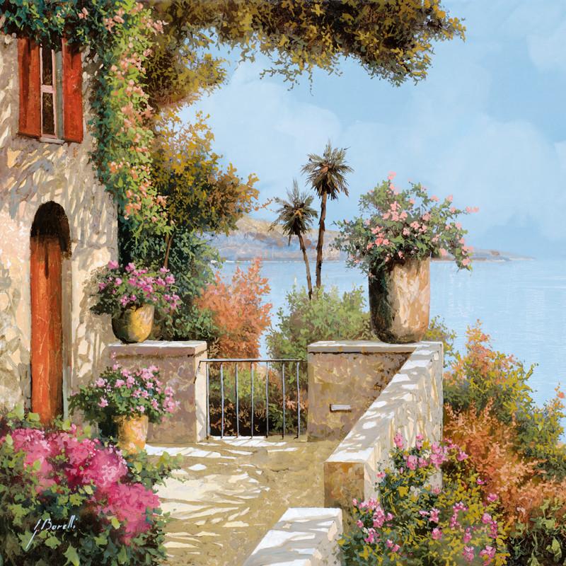 Фреска прекрасный балкон