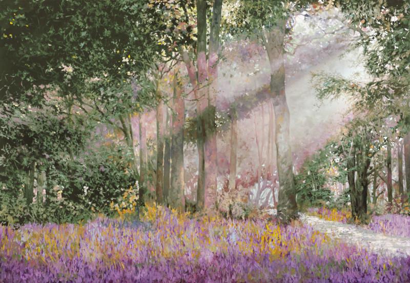 Цветочная лужайка в лесу