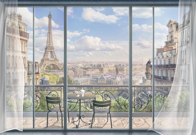 Фреска балкон во Франции