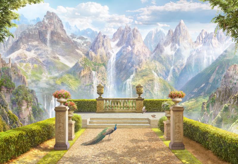 Фреска  горный пейзаж