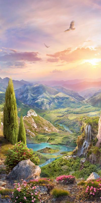 Пейзаж на закате