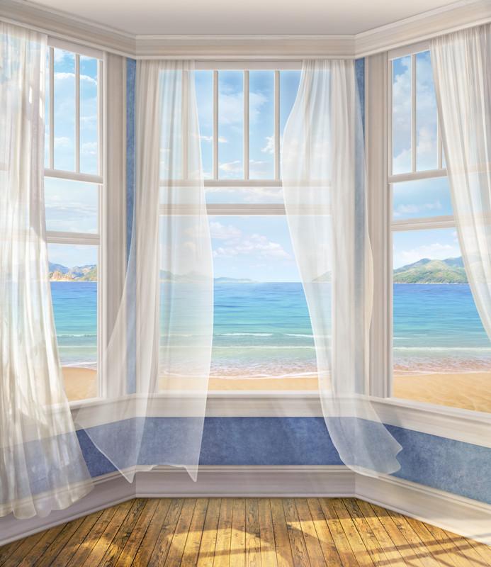 Фреска эркер с видом на море