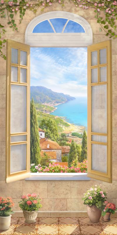 Фреска вид из окна на мору